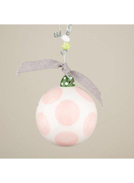Glory Haus Glory Haus Ornament - Baby's 1st - Pink
