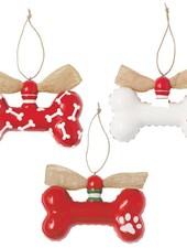 Mudpie Personalized Dog Bone Ornament