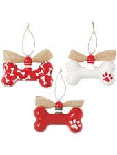 Mudpie Personalized Dog Bone Ornament