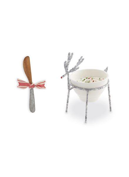Mudpie Reindeer Dip Bowl & Spreader