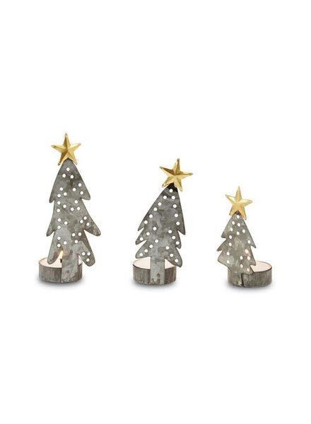 Mudpie Christmas Tree Tea Light Holder Set of 3
