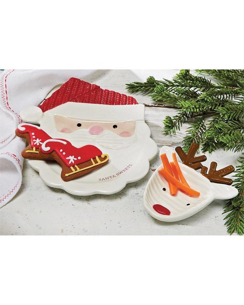 Christmas Plate Set.Mudpie Night Before Christmas Plate Set