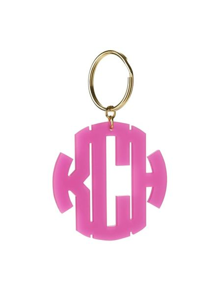 Moon and Lola Moon & Lola Nice Monogram Keychain