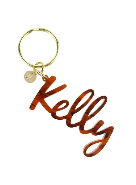 Moon and Lola Moon & Lola Nameplate Keychain - Pick Your Color