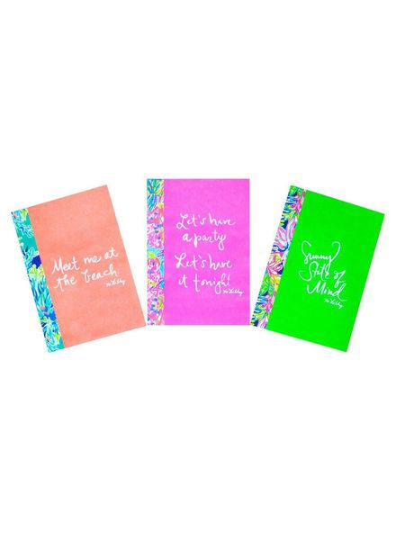 Lilly Pulitzer Set of 3 Mini Notebooks