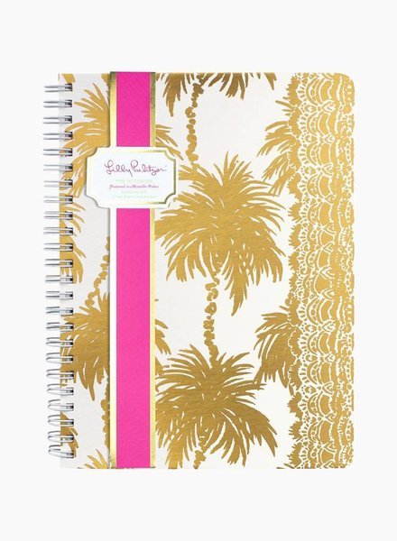 Lilly Pulitzer Metallic Palms Mini Notebook