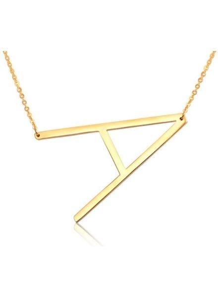Sahira Jewelry Gold Initial Necklace