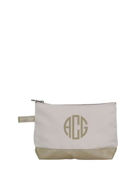 CB Station Metallic Trim Make Up Bag