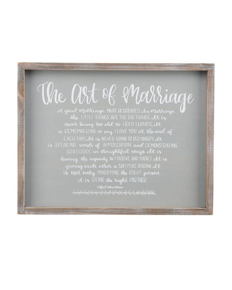 Glory Haus Art of Marriage Framed Sign