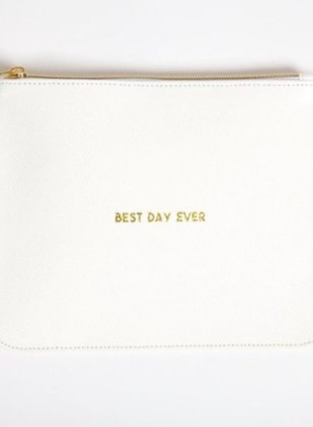 8 Oak Lane Best Day Ever Zippered Pouch
