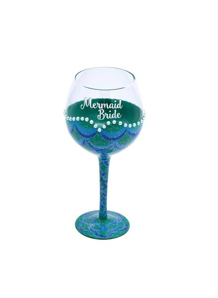 Mermaid Bride Wine Glass
