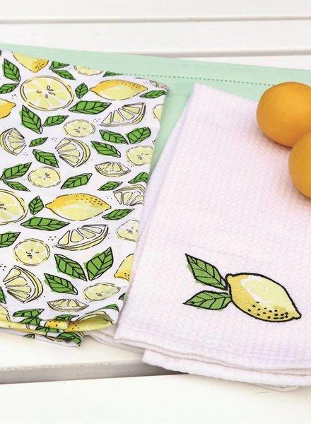 Set of 2 Lemon Dishtowels