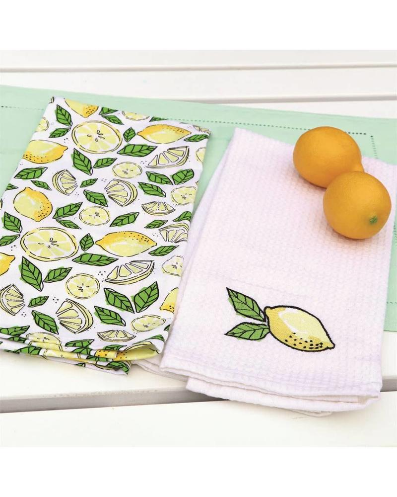Set of 2 Lemon Dishtowels