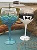 Captain Groom Wine Glass