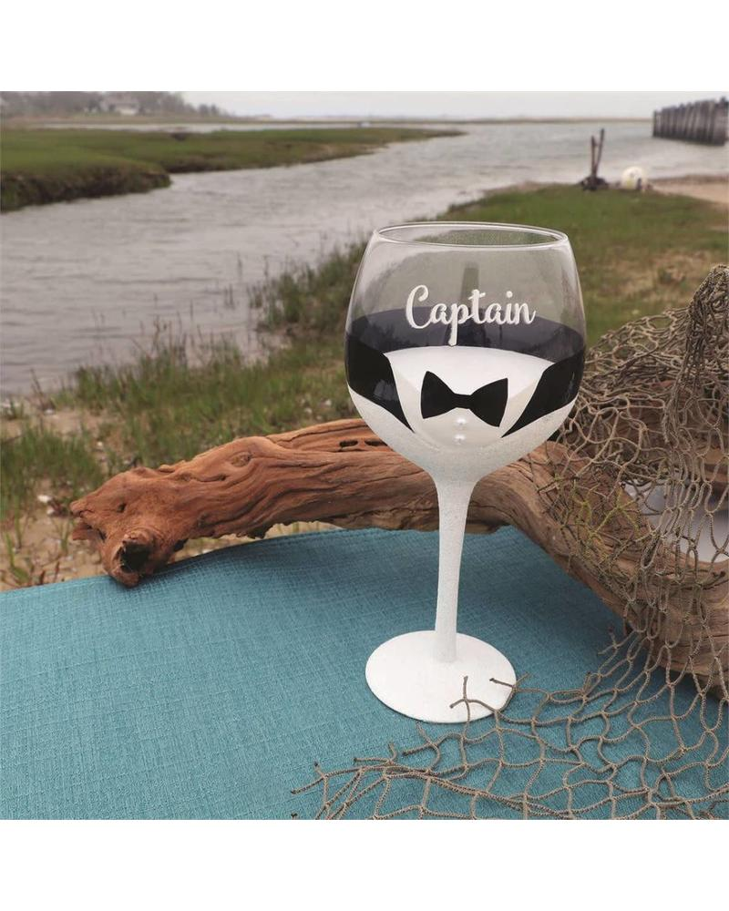 Captain Groom Wine Glass