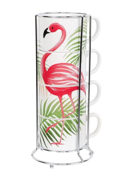 Flamingo Stacking Mug Set