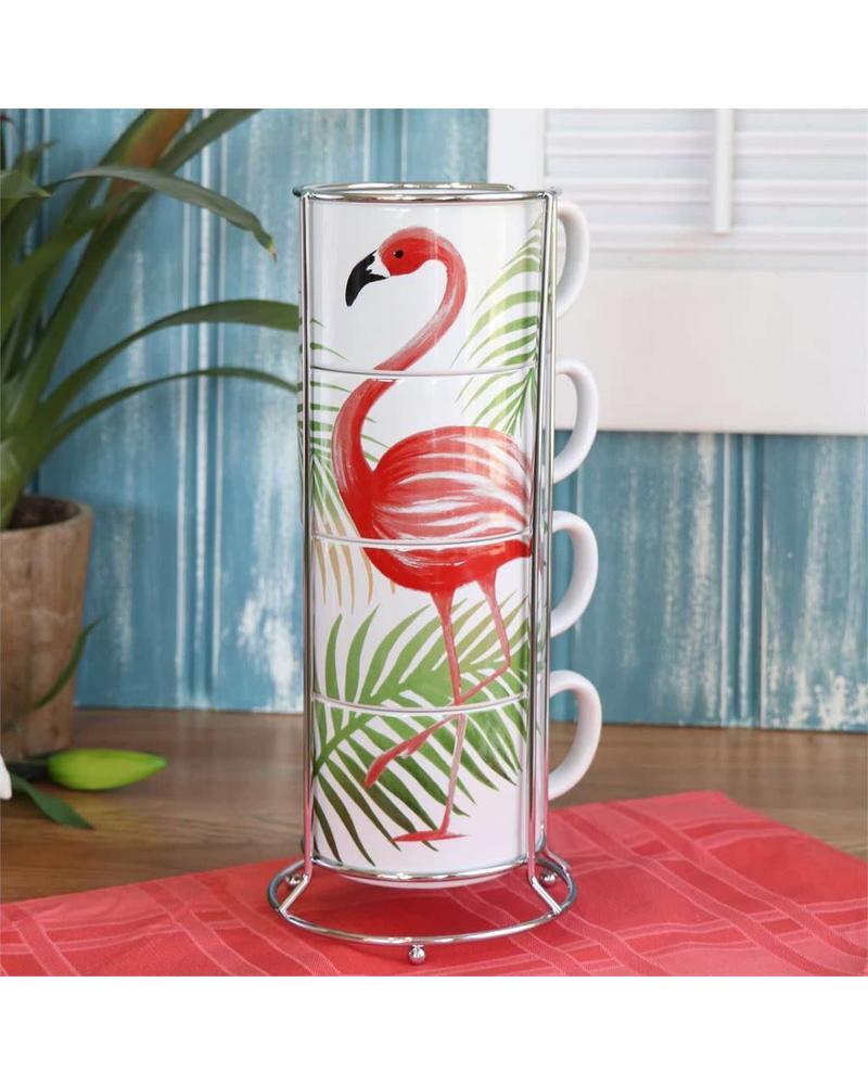 Flamingo Stacking Mug Set
