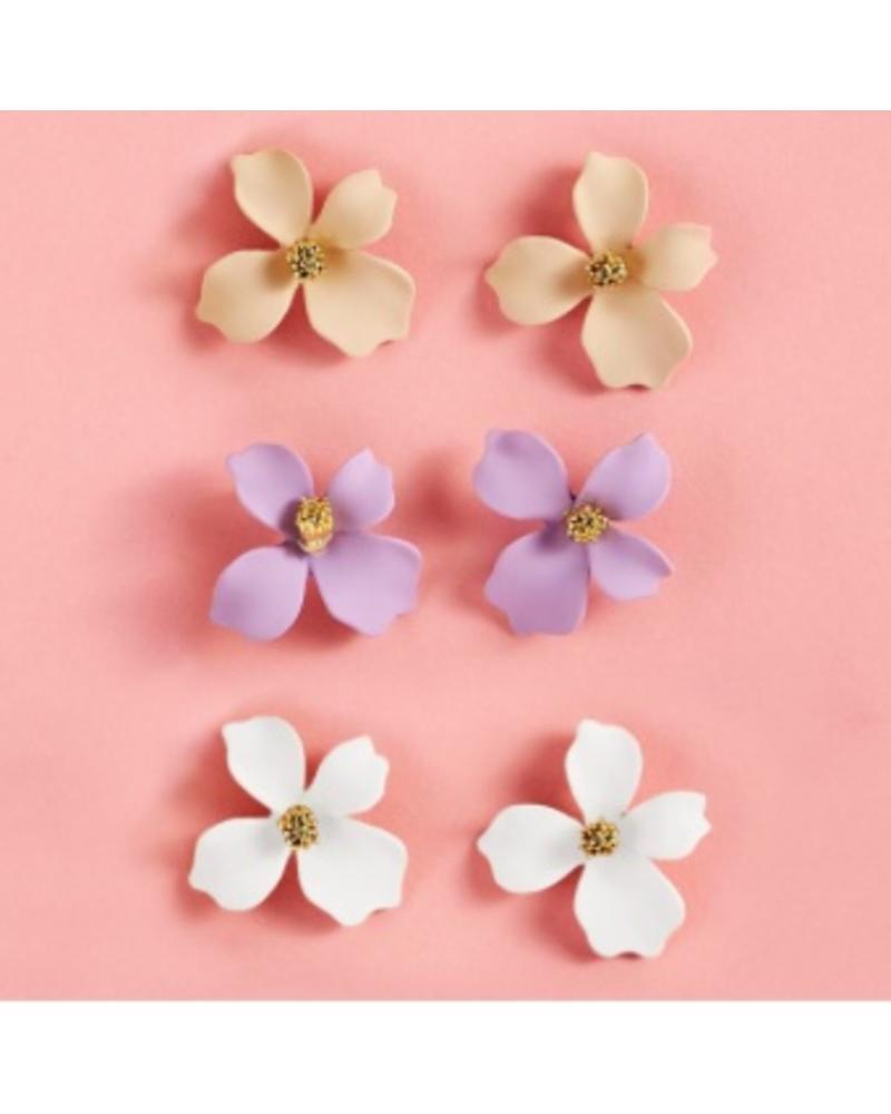 Two's Company Flower Petal Stud Earrings