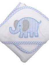 3 Marthas Blue Elephant Hooded Towel