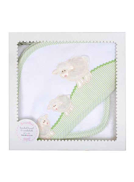 3 Marthas White Lamb Hooded Towel