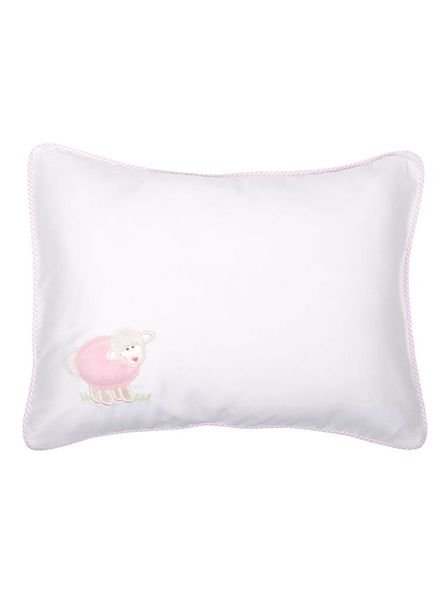 3 Marthas Birthdate Pink Lamb Baby Pillow