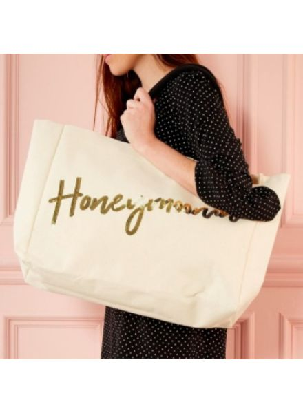 Two's Company Honeymoon Sequin Tote Bag