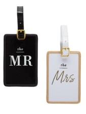 Two's Company Honeymoon Mr. & Mrs. Luggage Tag Set
