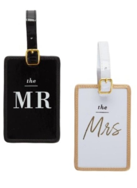 Two's Company Honeymoon Mr. & Mrs. Luggage Tag Set