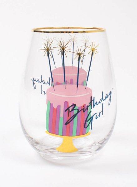 8 Oak Lane Birthday Girl Stemless Wine Glass