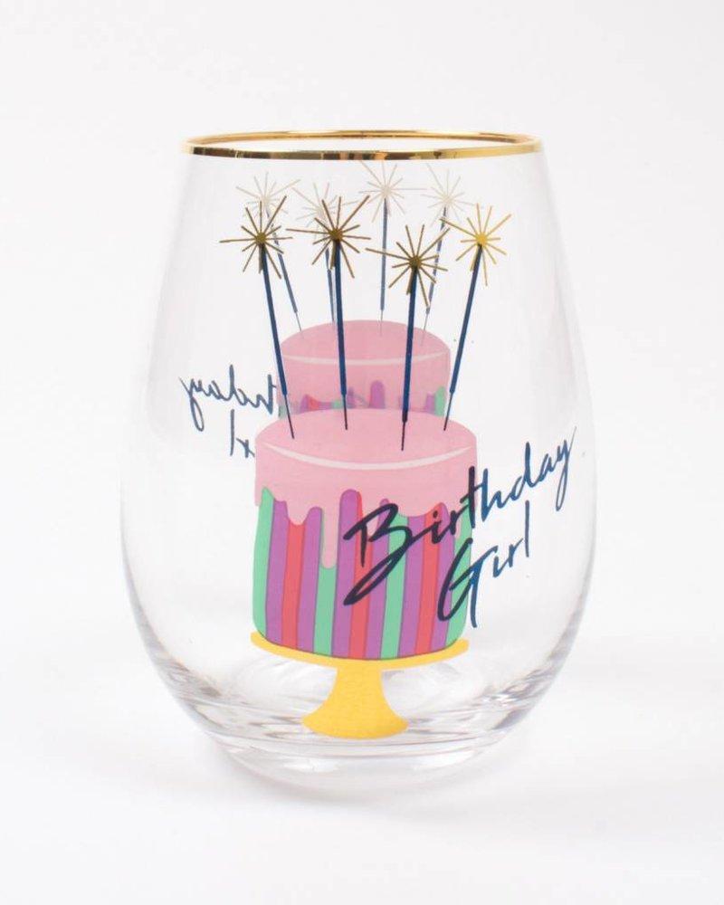8 Oak Lane Birthday Girl Stemless Wine Glass