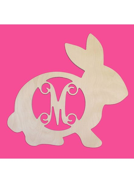 Wholesale Boutique Wood  Bunny Monogram