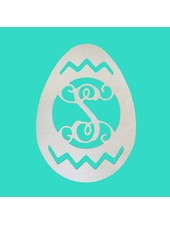 Wholesale Boutique Wood Easter Egg Monogram