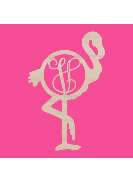Wholesale Boutique Wood Flamingo Monogram