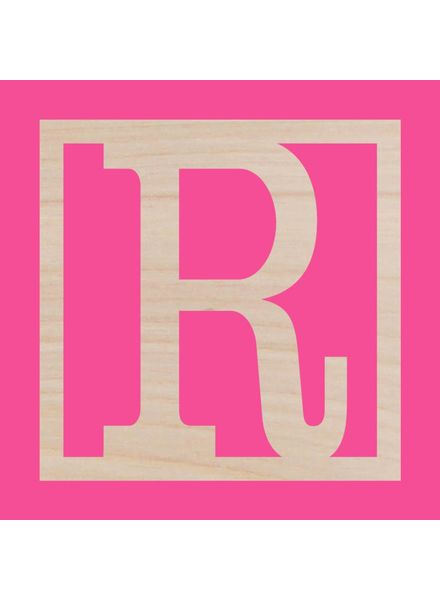 Wholesale Boutique Wood Classic Square Monogram