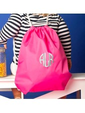 Wholesale Boutique Monogrammed Drawstring Gym Bag - 5 Colors