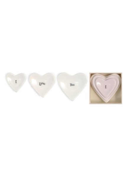 Two's Company I Love You Stackable Heart Dishes
