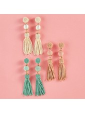 Two's Company Beaded Tassel Earrings