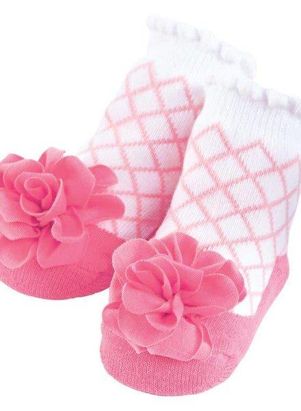 Mudpie Pink Flower Baby Socks