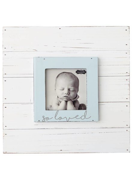 Mudpie Blue So Loved Picture Frame