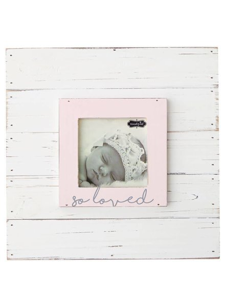 Mudpie Pink So Loved Picture Frame
