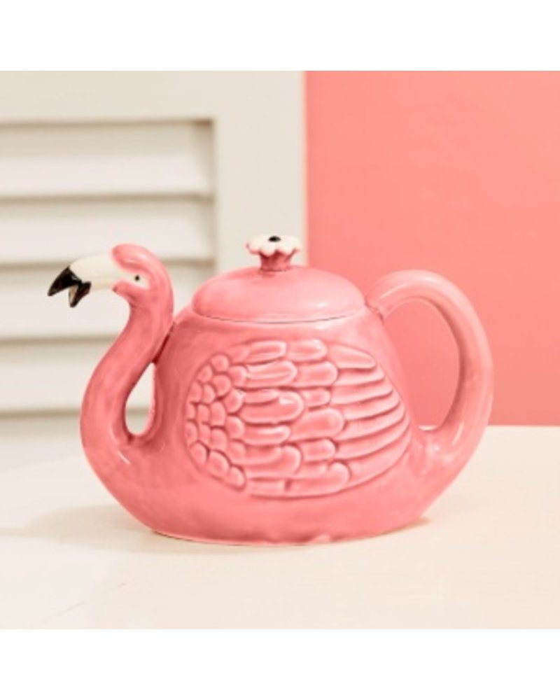 Two's Company Flamingo Teapot
