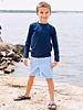 Cornflower Blue Gingham Swim Trunks
