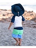 Ruffle Butts Navy Blue Sun Protective Hat