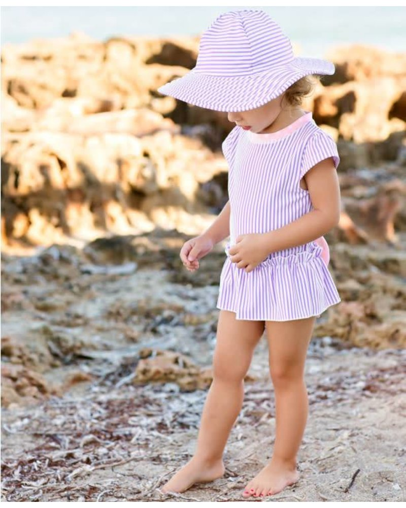 Ruffle Butts Lilac Seersucker Peplum One Piece