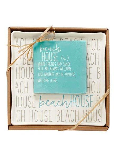 Mudpie Beach House Plate & Napkin Set