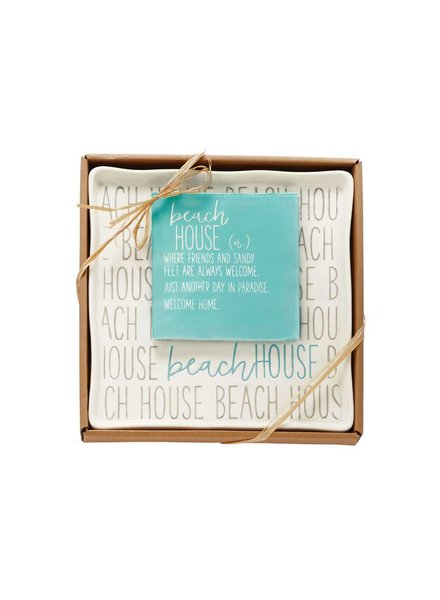 Mudpie Beach House Plate & Napkin Set
