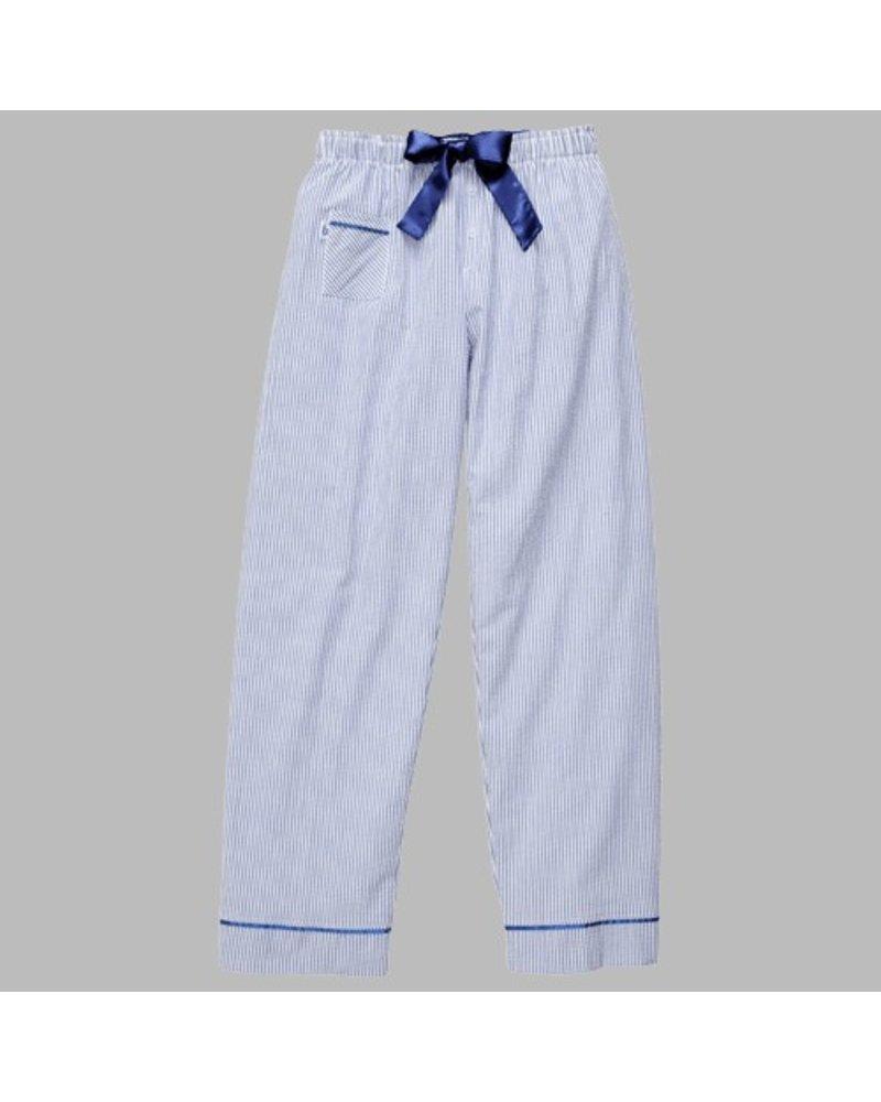 Boxercraft Seersucker Pant Navy Blue Initial Styles Jupiter
