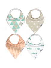 Copper Pearl Pacific Bandana Bibs Set