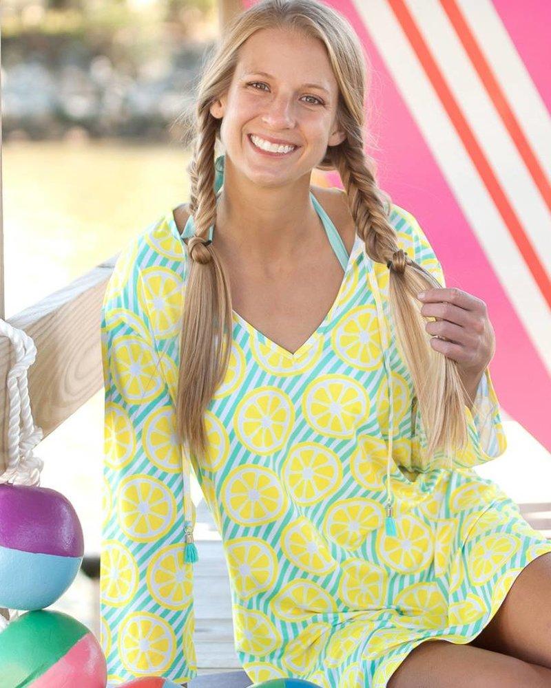 Wholesale Boutique Lemon Print Beach Tunic