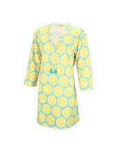 Wholesale Boutique Lemon Print Beach Tunic